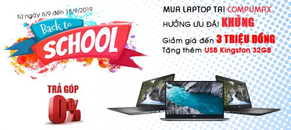 Khuyến mãi Laptop mới đón Năm học mới!