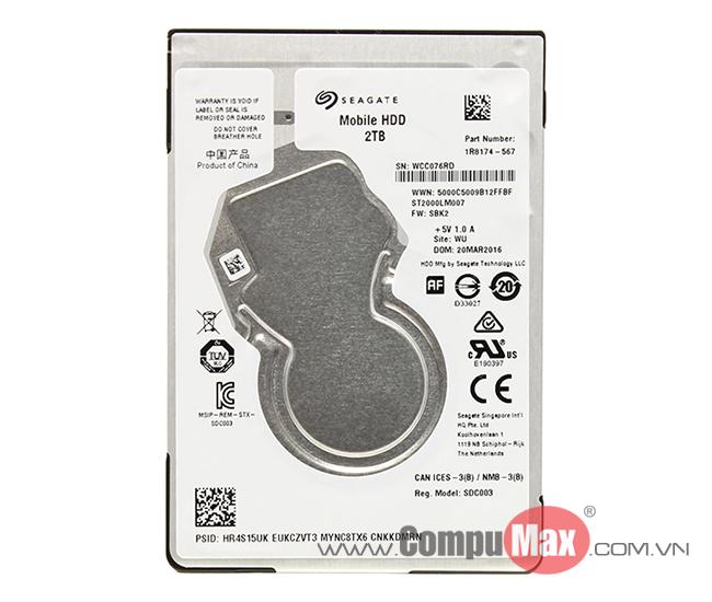 HDD Laptop Seagate/Western Digital 2TB SATA3 5400rpm 7mm